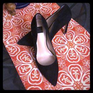 Size 7.5 hope black suede heals.